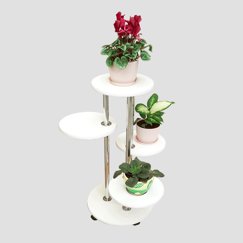 Напольная подставка для цветов «Флора-2» цвет белый