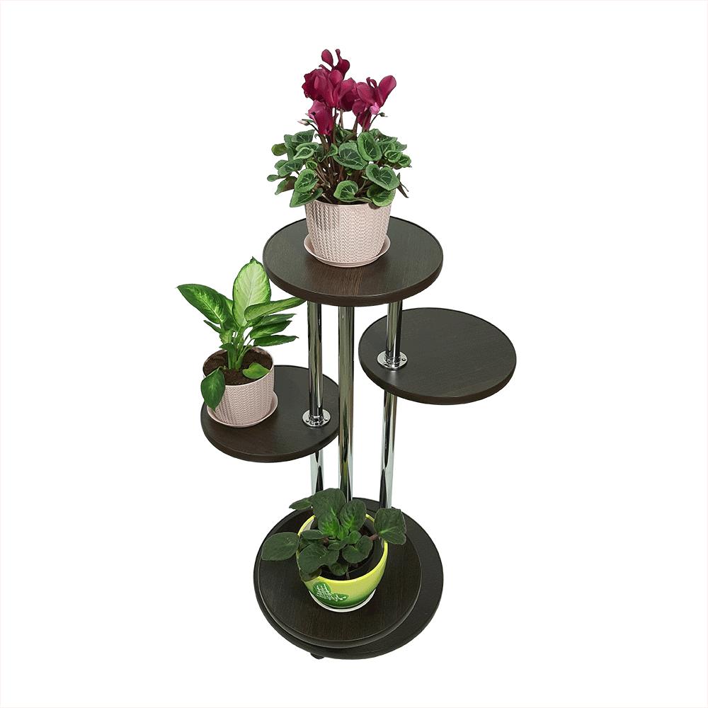 Напольная подставка для цветов «Флора-2» цвет венге