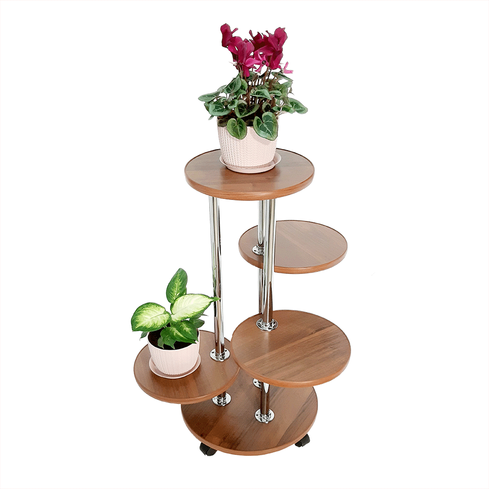 Напольная подставка для цветов «Флора-2» цвет орех