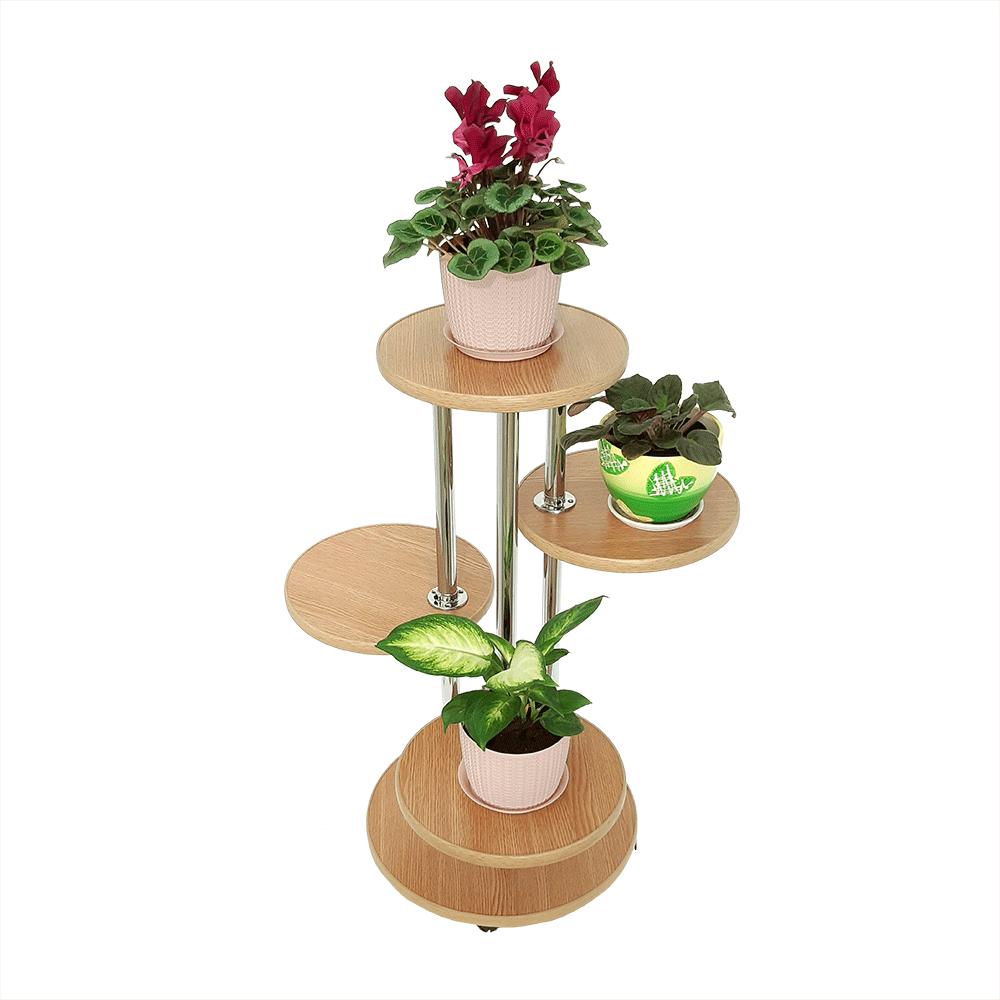 Напольная подставка для цветов «Флора-2» цвет дуб