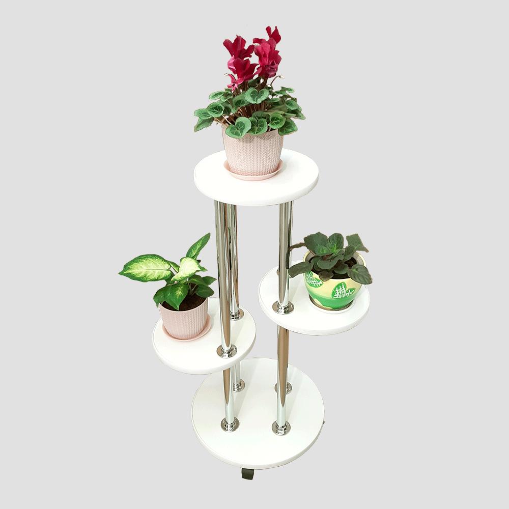 Напольная подставка под цветы «Веста» цвет белый