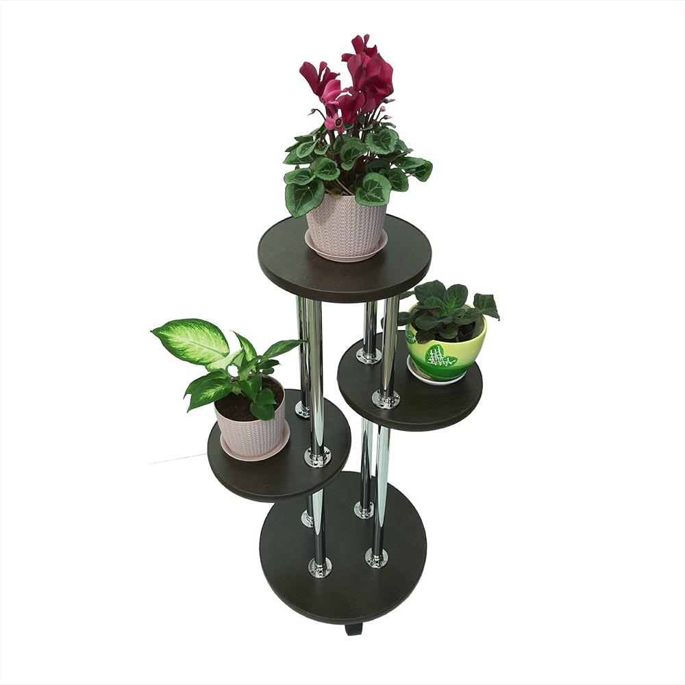 Напольная подставка под цветы «Веста» цвет венге