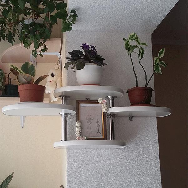 Настенная подставка для цветов «Вега»