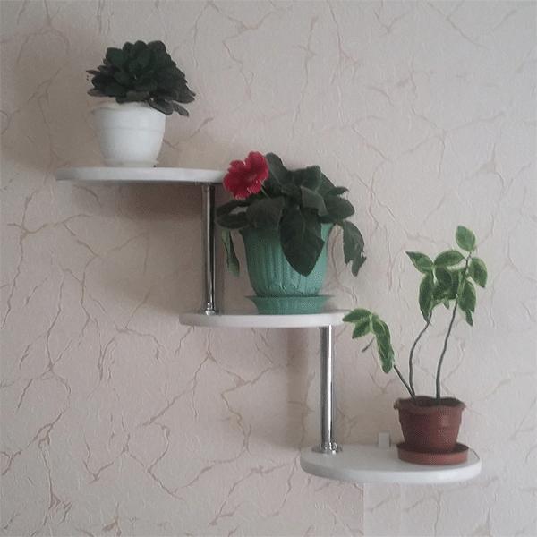 Настенная подставка под цветы «Ступени-3»