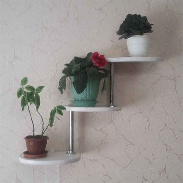 Настенная подставка под цветы «Ступени-3П»