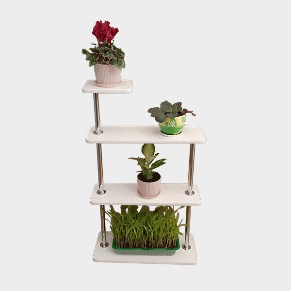 Полка для цветов на подоконник «Лесенка-2.5»