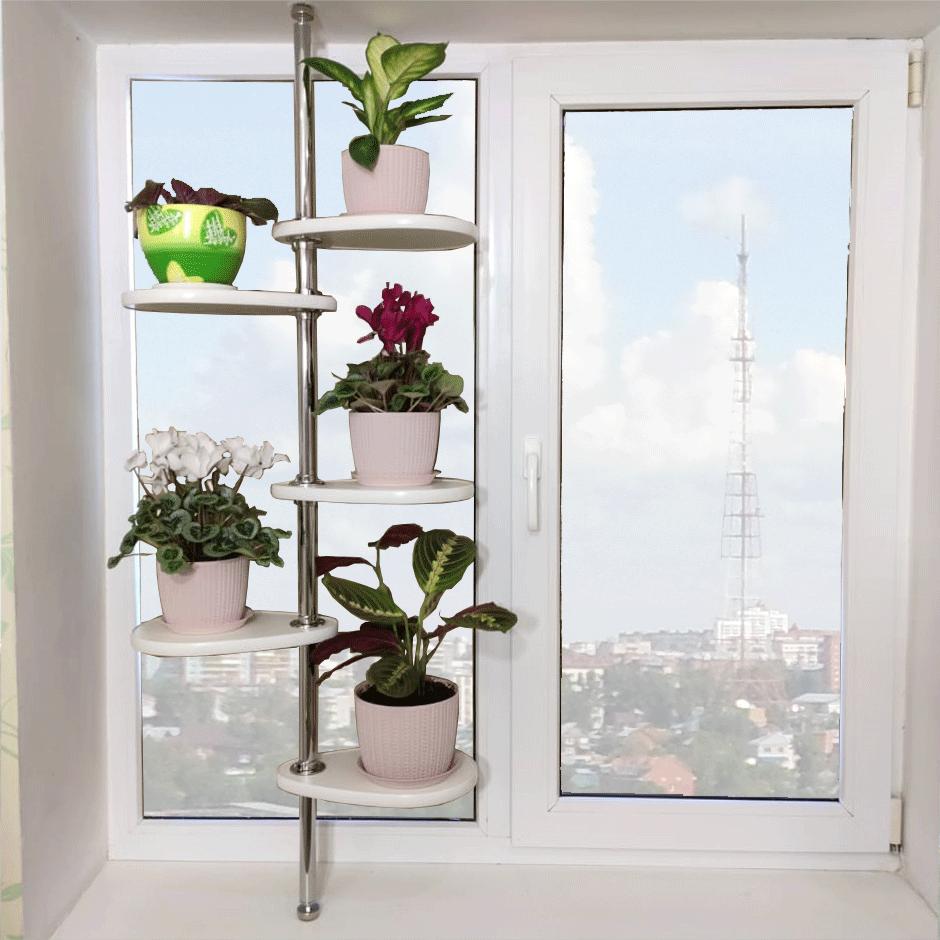 Стойка для цветов на подоконник «Фантазия»
